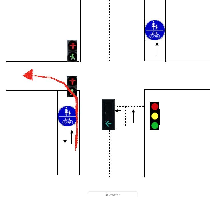 Linksabbiegen Vom Zweirichtungsradweg Fahrrad Radforumde